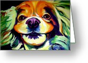Spaniel Print Greeting Cards - Cocker Spaniel - Cheese Greeting Card by Alicia VanNoy Call