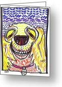 Street Art Drawings Greeting Cards - Cocker Spaniel Greeting Card by Robert Wolverton Jr