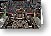 Knobs Greeting Cards - Cockpit Controls HDR Greeting Card by Kevin Munro