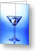 Alcoholic Greeting Cards - Cocktail being poured Greeting Card by Jane Rix
