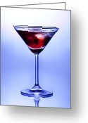 Alcoholic Greeting Cards - Cocktail Greeting Card by Jane Rix