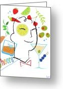 Happy Greeting Cards - Cocktail Time Greeting Card by Lisa Henderling