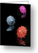 Umbrella Greeting Cards - Cocktail Umbrellas XI Greeting Card by Tom Mc Nemar