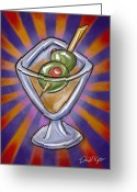 David Kyte Greeting Cards - Cocktail with Olives  Greeting Card by David Kyte