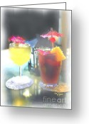 Tai Greeting Cards - Cocktails on the Patio 1 Greeting Card by Cheryl Young