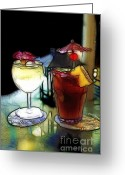 Tai Greeting Cards - Cocktails on the Patio 2 Greeting Card by Cheryl Young