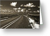 Duotone Greeting Cards - Cocodrie Highway Greeting Card by Scott Pellegrin