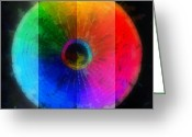 Round Shell Digital Art Greeting Cards - Code Of Colors 2-1 Greeting Card by Angelina Vick