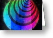Round Shell Digital Art Greeting Cards - Code of Colors 2-2 Greeting Card by Angelina Vick