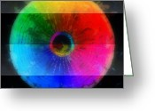 Round Shell Digital Art Greeting Cards - Code Of Colors 3-1 Greeting Card by Angelina Vick