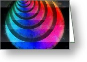Round Shell Digital Art Greeting Cards - Code Of Colors 3-2 Greeting Card by Angelina Vick