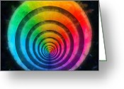 Round Shell Digital Art Greeting Cards - Code Of Colors 4 Greeting Card by Angelina Vick