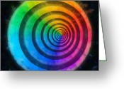 Round Shell Digital Art Greeting Cards - Code Of Colors 5 Greeting Card by Angelina Vick