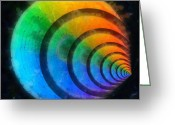 Round Shell Digital Art Greeting Cards - Code Of Colors 6 Greeting Card by Angelina Vick