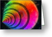 Round Shell Digital Art Greeting Cards - Code Of Colors 7 Greeting Card by Angelina Vick