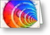 Illusion Illusions Greeting Cards - Code Of Colors 8 Greeting Card by Angelina Vick