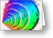 Illusion Illusions Greeting Cards - Code Of Colors 9 Greeting Card by Angelina Vick