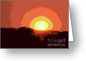 Western Sky Greeting Cards - Coeur DAlene Sunset Greeting Card by David Bearden