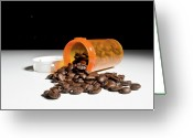 Coffe Greeting Cards - Coffee Addiction Greeting Card by Jim DeLillo