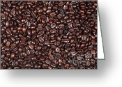 Selection Greeting Cards - Coffee beans background Greeting Card by Richard Thomas
