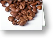 Romantic Greeting Cards - Coffee beans Greeting Card by Gert Lavsen