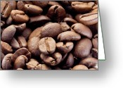 Coffe Greeting Cards - Coffee Beans Greeting Card by Jim DeLillo