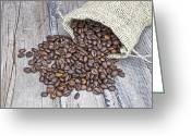 Coffee Beans Greeting Cards - Coffee beans Greeting Card by Joana Kruse