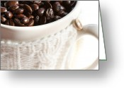 Coffee Beans Greeting Cards - Coffee Beans Greeting Card by Kim Fearheiley