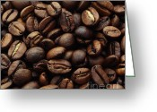 Coffee Beans Greeting Cards - Coffee beans Greeting Card by Kristin Kreet