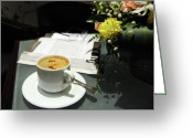 Stock Still Life Photo Greeting Cards - Coffee Break Greeting Card by Graham Taylor