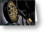 Seattle Greeting Cards - Coffee Break Greeting Card by Spencer McDonald