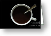 Coffe Greeting Cards - Coffee Cup Greeting Card by Frank Tschakert
