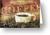 Espresso Art Greeting Cards - Coffee Greeting Card by Darren Fisher