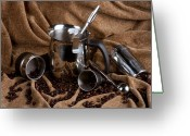 Coffee Beans Greeting Cards - Coffee Greeting Card by David  Naman