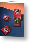 Grinders Greeting Cards - Coffee Grinders Greeting Card by Lori Miller