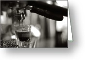 Washington State Greeting Cards - Coffee In Glass Greeting Card by JRJ-Photo