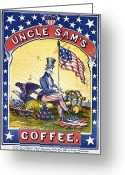 Cannonball Greeting Cards - COFFEE LABEL, c1863 Greeting Card by Granger