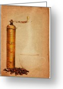 Appliances Greeting Cards - Coffee Greeting Card by Michal Boubin