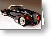 Custom Roadster Greeting Cards - Coffee Roadster Greeting Card by Bill Dutting