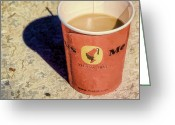 Paper Digital Art Greeting Cards - Coffee Greeting Card by Scott Norris