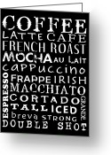 Latte Digital Art Greeting Cards - Coffee Time Greeting Card by Jaime Friedman