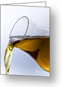 Splashing Greeting Cards - Cognac Greeting Card by Frank Tschakert