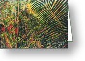 Big Cat Art Prints Greeting Cards - Cohune Palms Greeting Card by Shelly Leitheiser