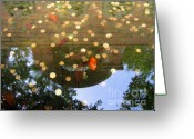 Throw Photo Greeting Cards - Coins in a Fountain Greeting Card by Yali Shi