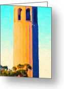 Size Greeting Cards - Coit Tower San Francisco Greeting Card by Wingsdomain Art and Photography