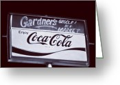 Blackandwhite Greeting Cards - Coke Silvered Greeting Card by Dave Edens