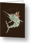 Sailing Greeting Cards - Cold Blooded Ocean Greeting Card by Budi Satria Kwan