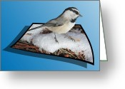 Out Of Frame Greeting Cards - Cold Feet Greeting Card by Shane Bechler