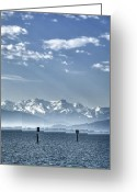 Summit Greeting Cards - Cold Lake Greeting Card by Joana Kruse