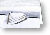 Maine Painting Greeting Cards - Cold Storage Greeting Card by Brent Ander